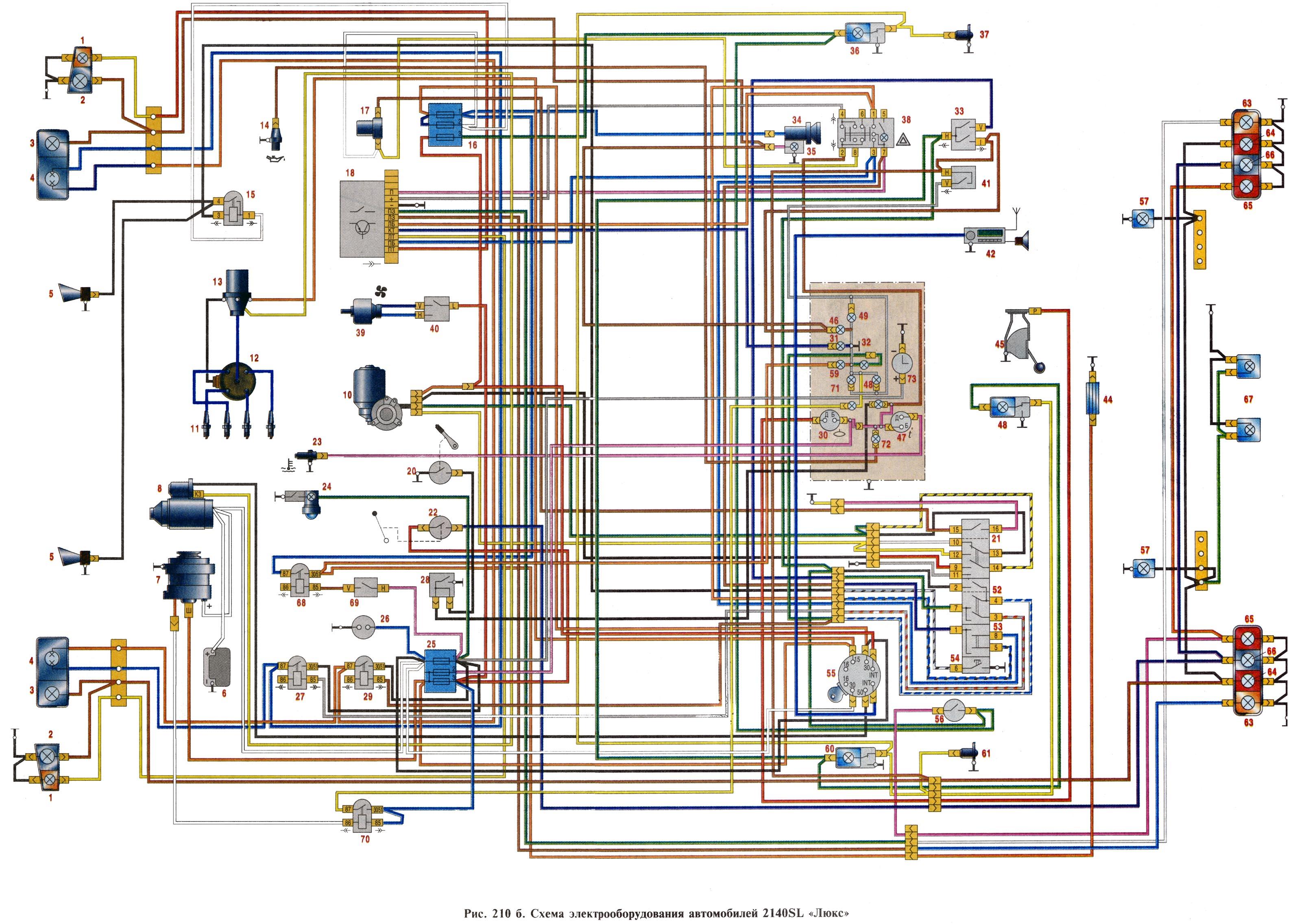 Схема электрооборудования Москвич 2140.